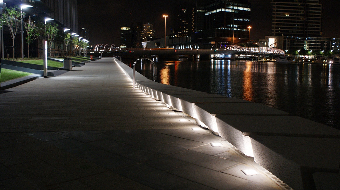 Inground luminaireswere custom fabricated specifically to suit the application requirements. These products provide sufficient illumination and ambient lighting to the circulation areas.