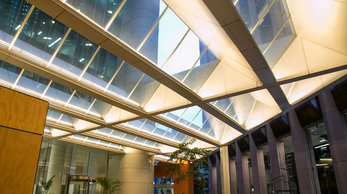 The Alto IP proved to be the ideal high power LED strip to illuminate this monolithic architectural canopy.