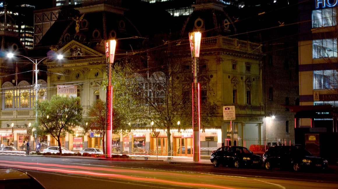 Coolon's illuminated panels are used on two distinctive feature light poles situated at the entrance to Little Bourke Street, Melbourne. These striking talisman poles are a prominent beacon and signal the entrance to Melbourne's colourful Chinatown.