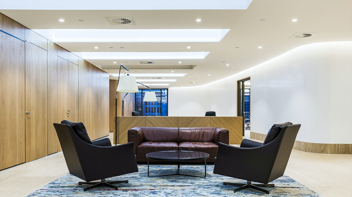 Primo X2 LED strip in application, installed in the DLA Piper Office in Sydney. Primo X2 LED strip mounted discreetly in the coves provide an abundance of illumination to the DLA Piper trafficable areas.