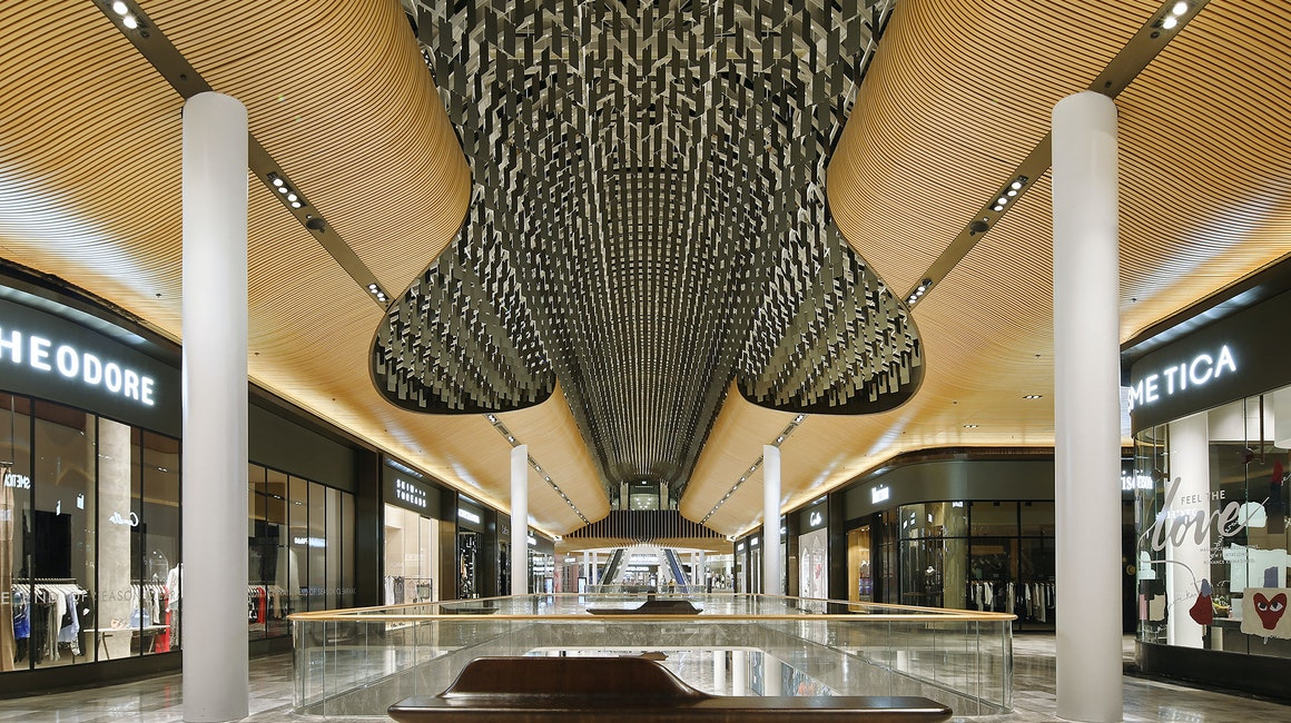 Multo versatile, compact LED strip in application, installed in Eastland Shopping Centre