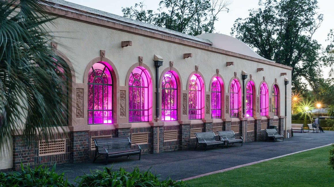 A spectacle designed using the Latitude, Max Mini and custom-made candle luminaries, working together to create seamless colour washes throughout the interior and exterior of the building.