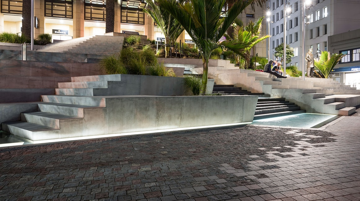 Freyberg Place, Auckland features Multo with an IP68 rating.