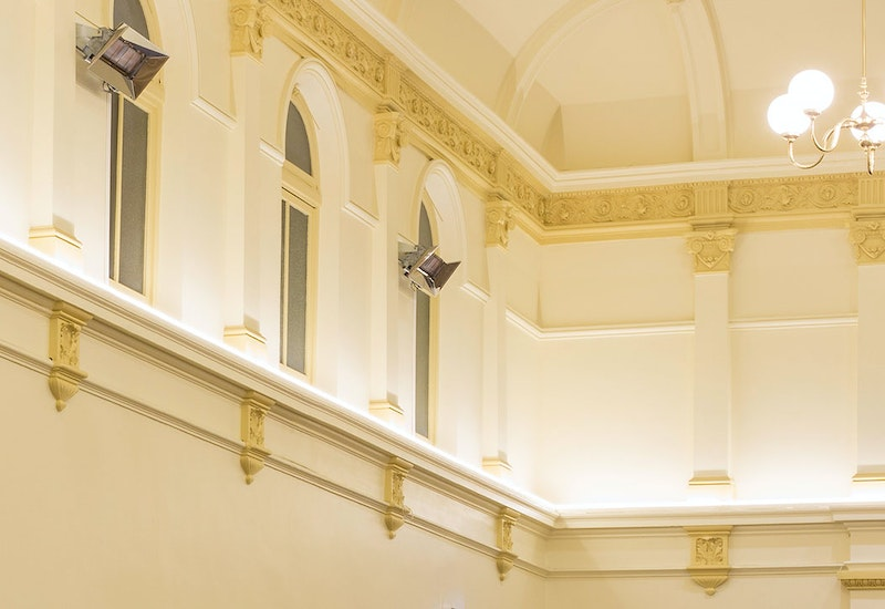 Multo versatile, compact LED strip in application, installed in the Kensington Town Hall.