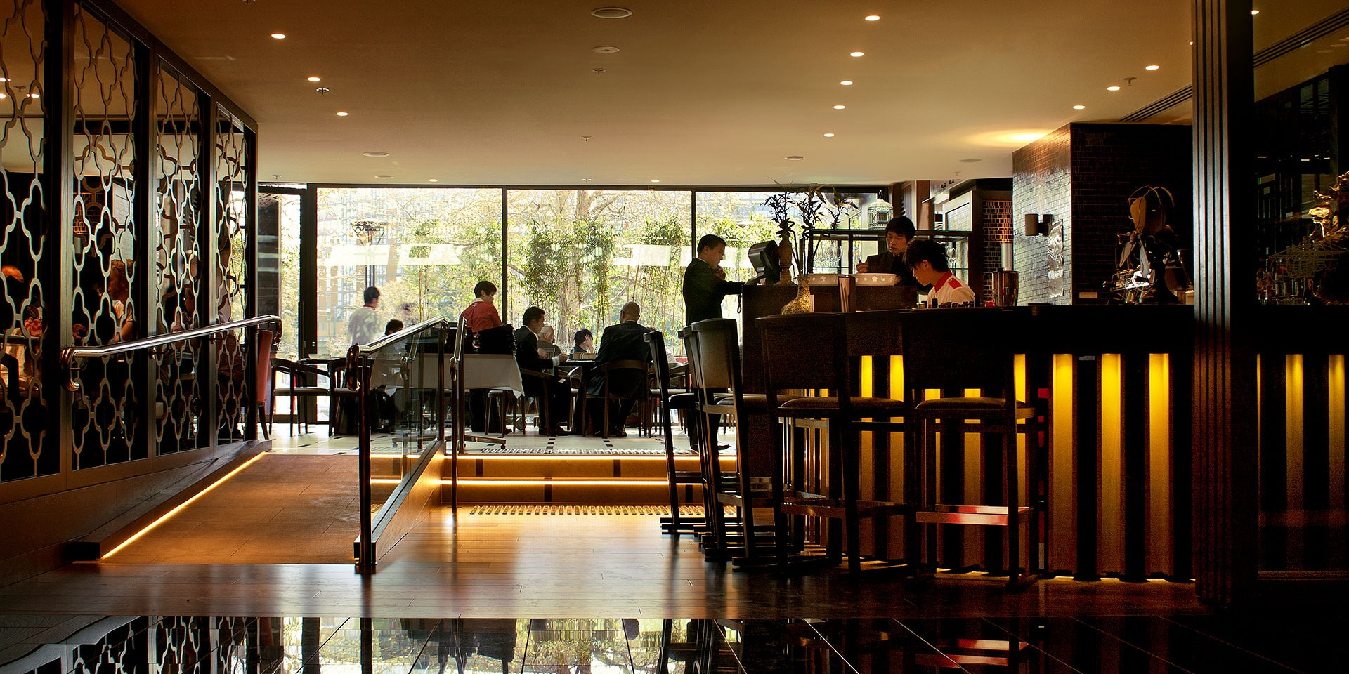 Primo LED strip in application, installed in Lucky Chan Restaurant in Crown Casino in Melbourne.
