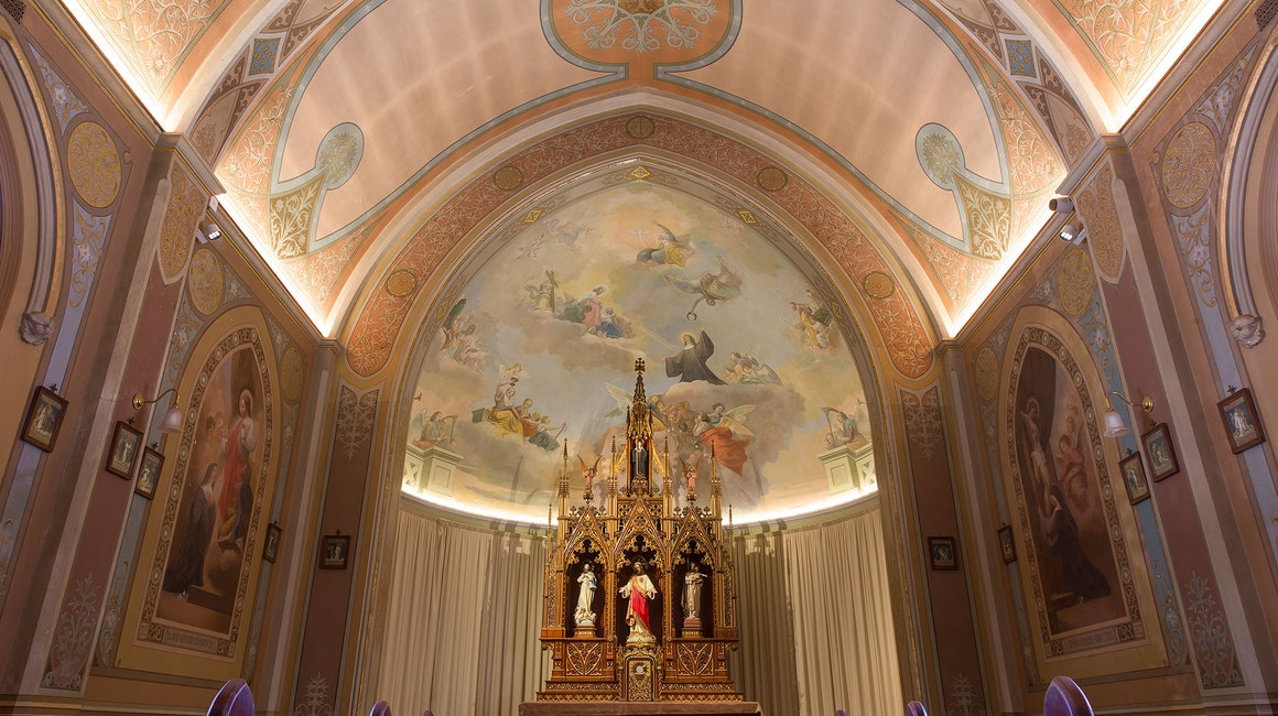 Alto CL Semi-rigid LED strip in application, installed in New Norcia Benedictine Chapels.