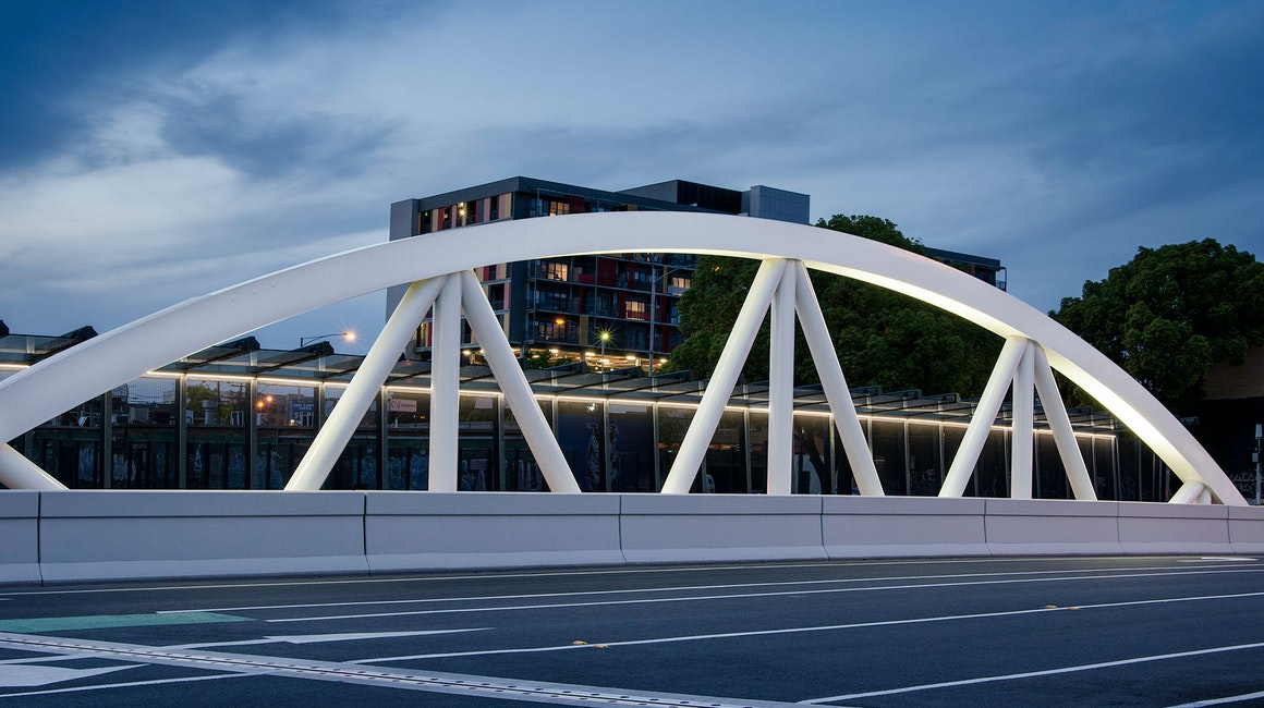 It's not hard to see why this new improved bridge has quickly become an attraction and icon in the local area. The architecturally designed bridge's pillars are highlighted using CP9 floodlights that add just the right amount of light and presence.