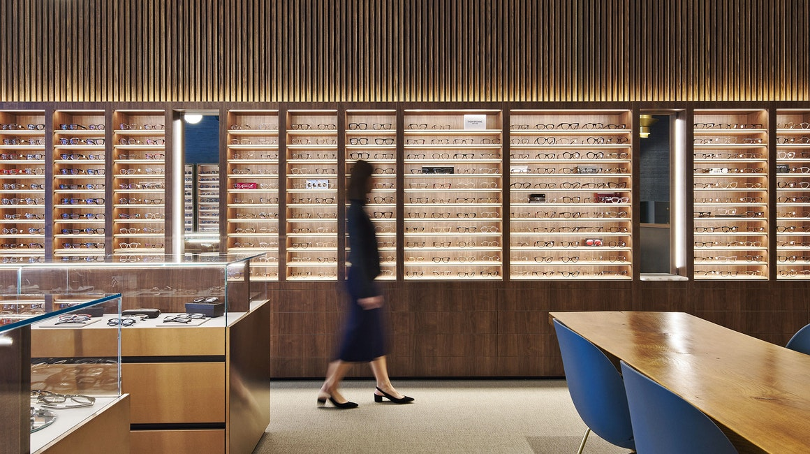 This stunning retail lighting design at Specialeyes Cottesloe features the ultra-compact Slim strip.