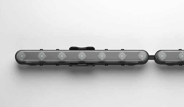 Aduro CL is a revolutionary semi-rigid chain LED light that allows full flexibility around curved spaces.