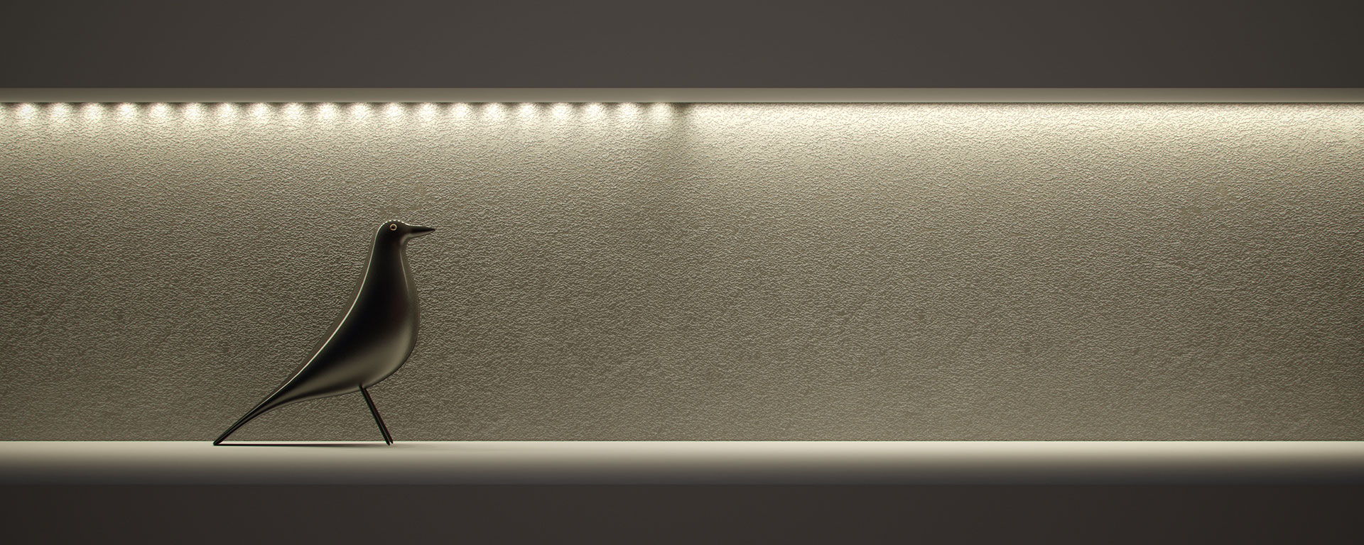 Electro is offered in various configurations, and uniform glow, a completely uniform diffuser with no visible scalloping on the diffuser or the illuminated surface.