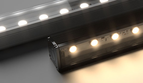 Maxis IP is a high power exterior linear LED floodlight. Offered in a range of optics, colour temperatures and static colour outputs, Maxis IP is the ideal luminaire for exterior wall washing & grazing applications.