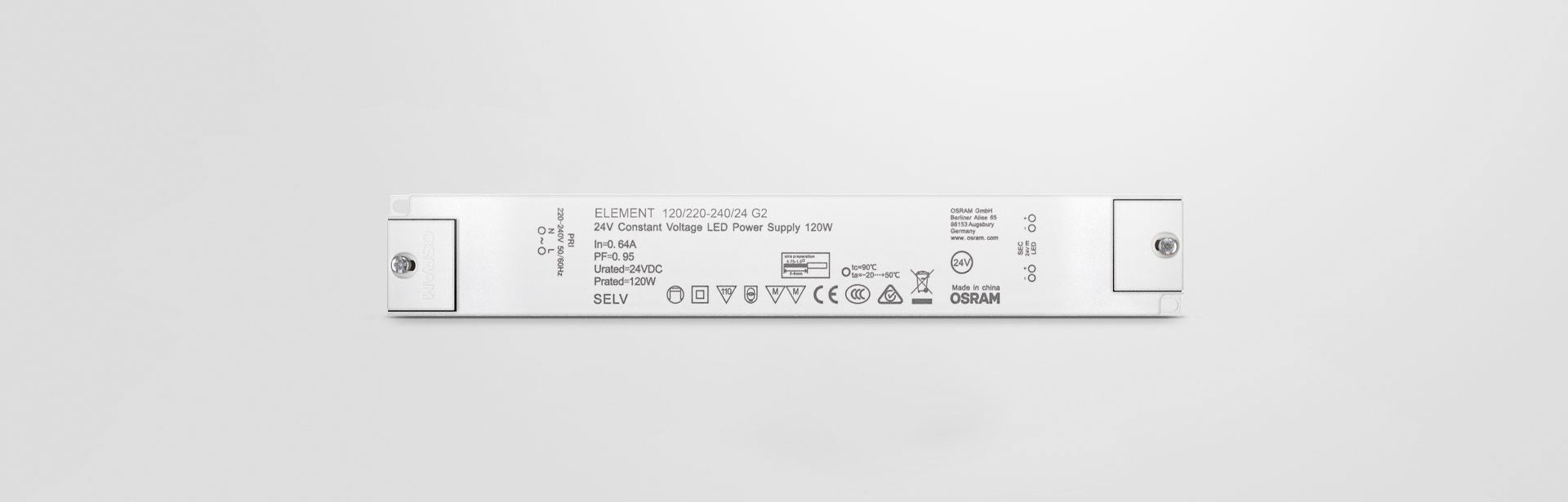 High efficiency (up to 91 %) Higher quality of light thanks to < 3% output ripple current Excellent price/performance ratio Class II design for wide application 3-year warranty