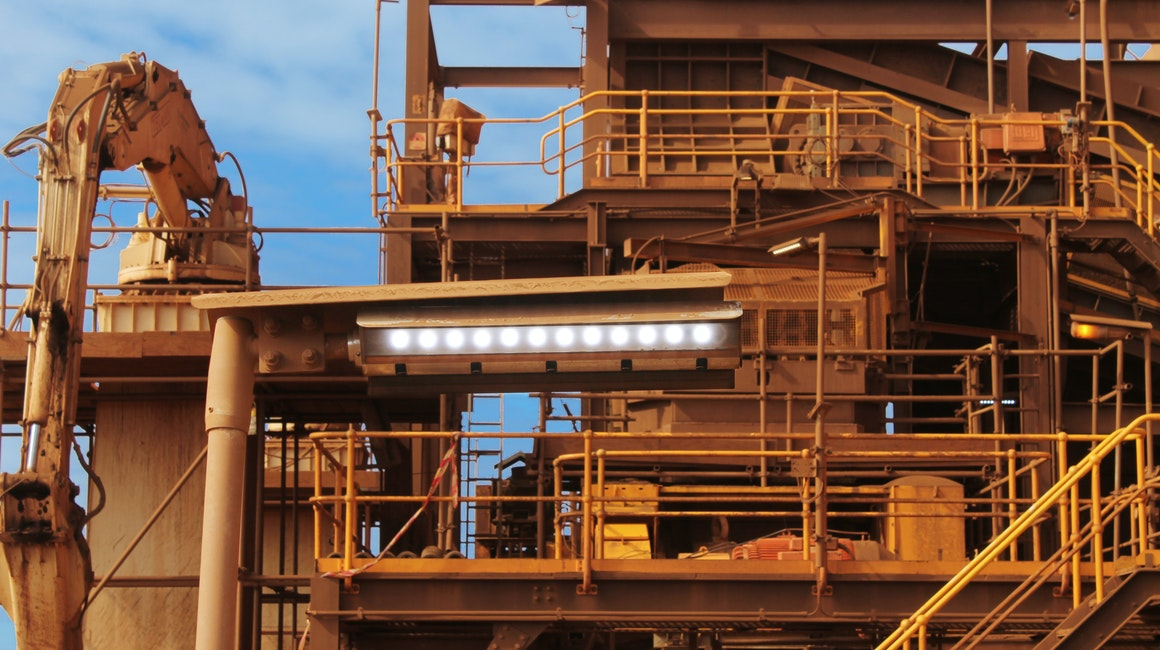 Industrial lighting by Coolon LED  on an iron ore in Mulga Downs.