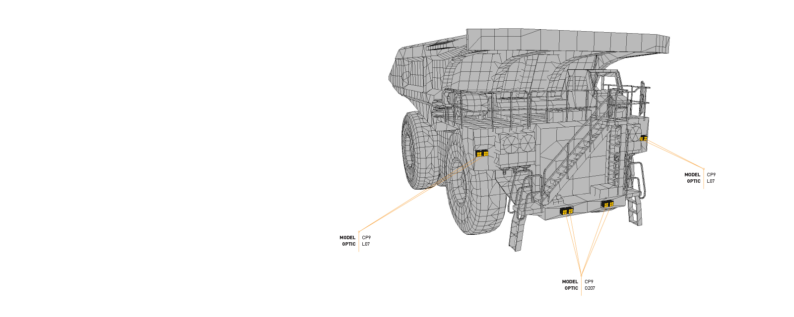 Look through this Lighting Design Simulation Report and explore how the CP9 LED Floodlight transforms the light output of a Caterpillar 793F mining truck