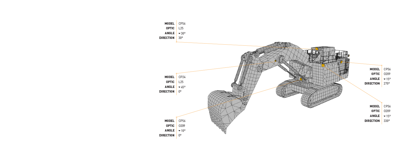This Lighting Design Simulation Report highlights how the light output of a Komatsu PC4000 hydraulic excavator can be drastically improved with a CP24 LED Floodlight.