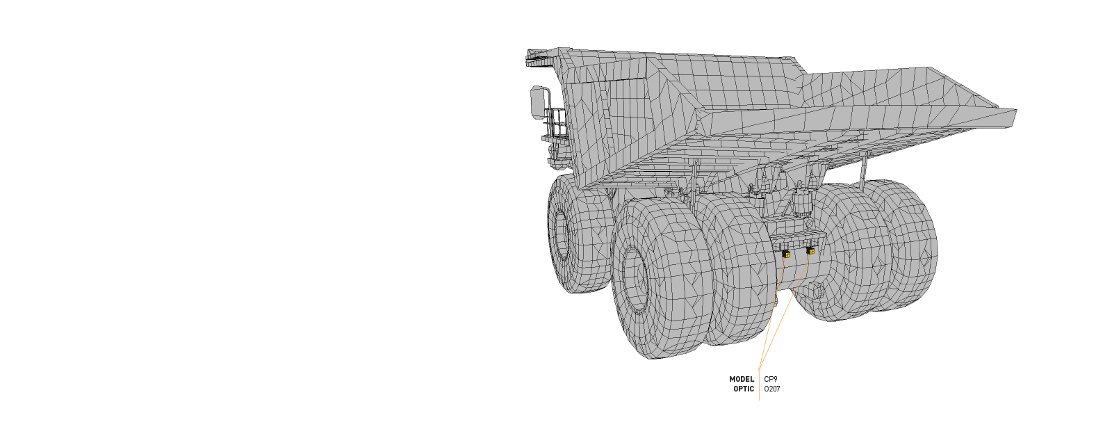 This Lighting Design Simulation Report made by Coolon illustrates how the CP9 LED Floodlight improves the light output of a Liebherr T282B mining truck.