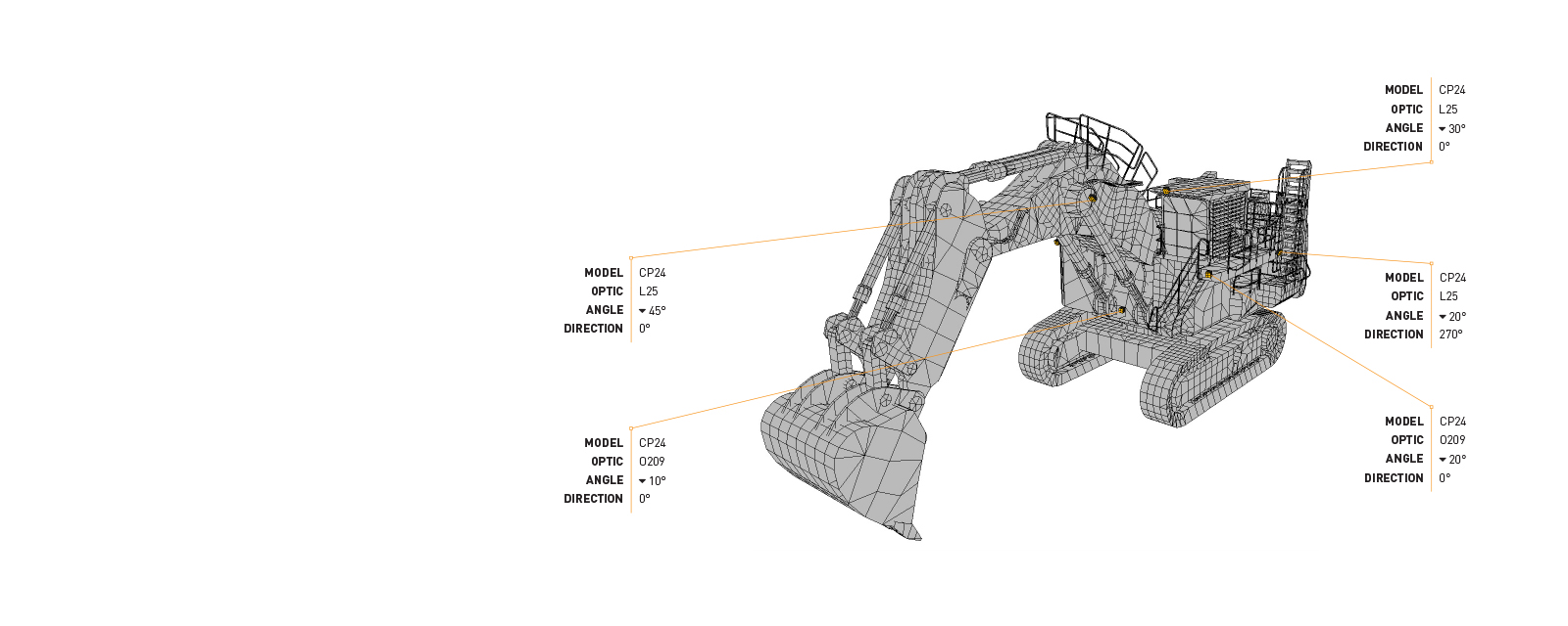 This Lighting Design Simulation Report was made by Coolon to highlight how CP24 LED Floodlight improves the light output of a Liebherr R9400 mining excavator