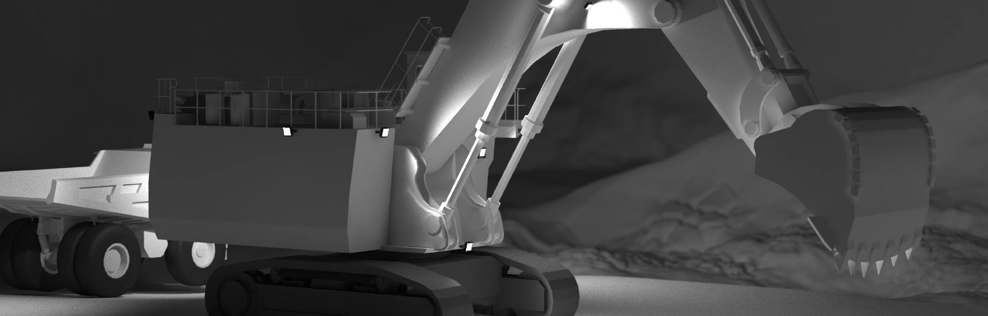 This Lighting Design Simulation Report shows how Coolon CP24 LED Floodlights improve the light output of a Caterpillar 6060 hydraulic mining shovel.