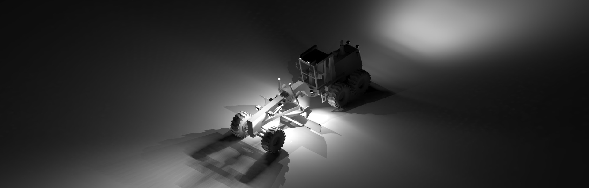 This Lighting Design Simulation Report shows how Coolon CP9 LED Floodlight improves the light output of a Komatsu GD825A motor grader.