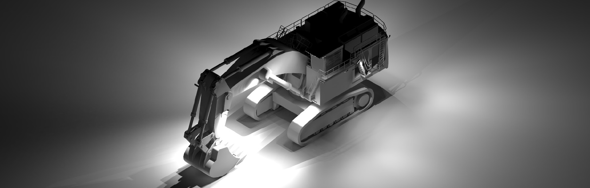 This Lighting Design Simulation Report clearly illustrates how CP24 LED Floodlight enhances the light output of a Liebherr R9800 mining excavator.