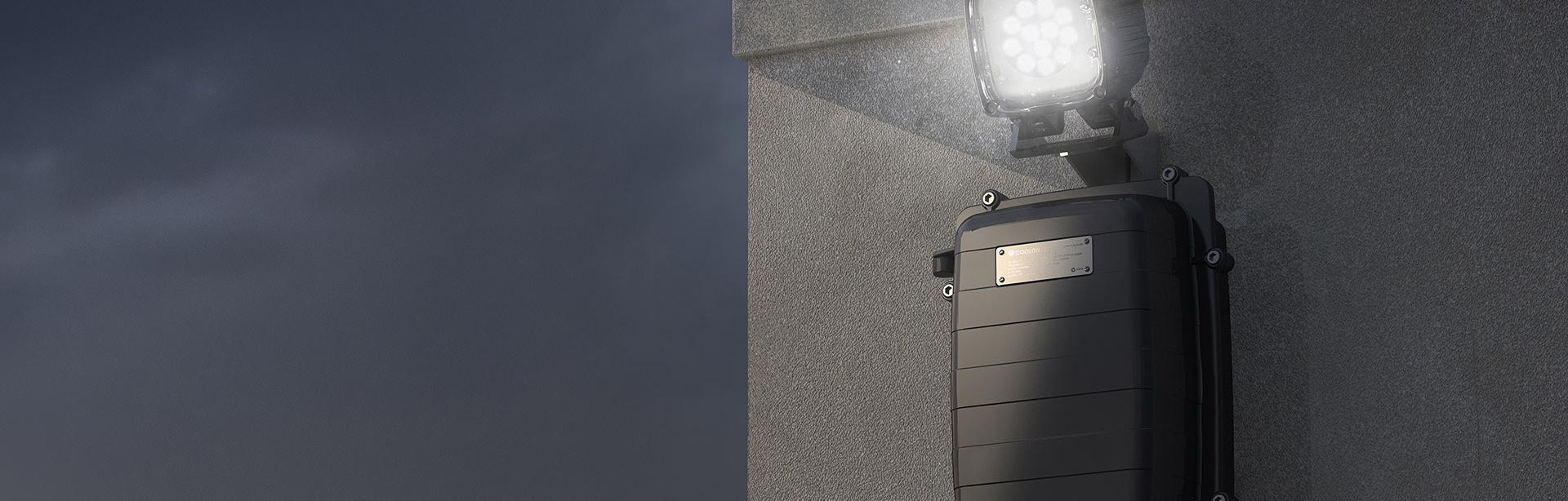Enclosure and luminiare wall mount bracket.
