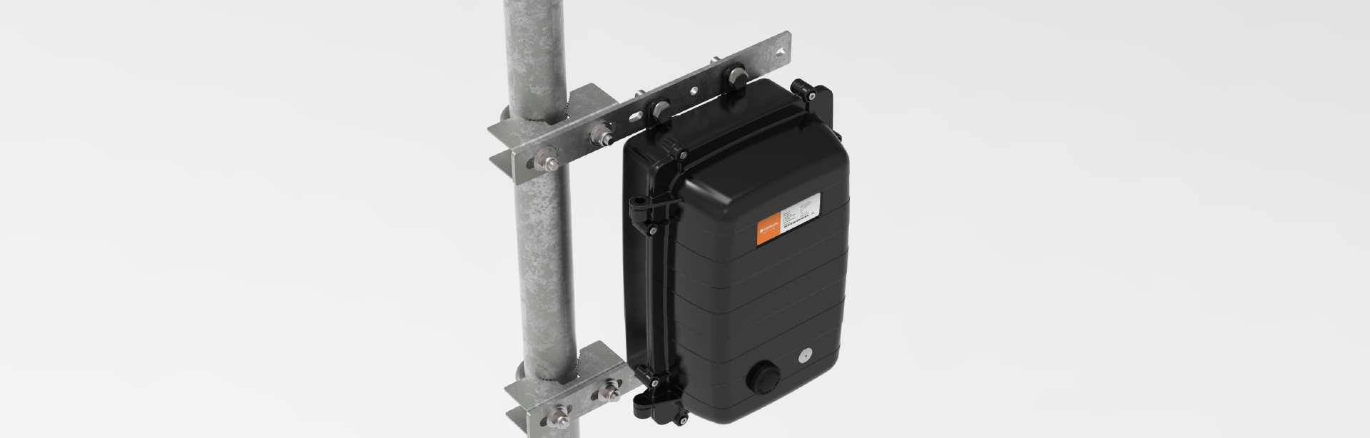 The U-Bolt pole mounting kit is specifically designed for mounting products using AL036 enclosure on a variety of poles that are widely used in the industry.