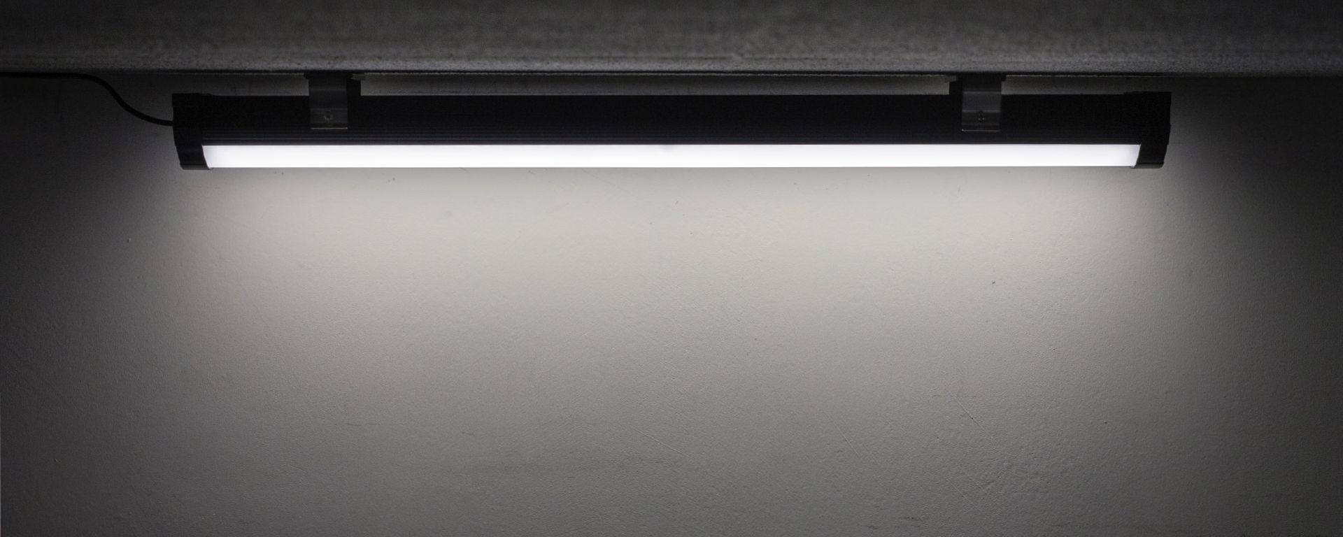 BNS - LED Batten Light for mining and industrial applications, close up on installation.