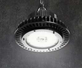 The AZIZ LIGHT™ is an extremely robust industrial LED high bay luminaire that has superior performance due to its tempered glass lens and cold-forged pure aluminium body. Perfect for the processing plant and warehouse applications.