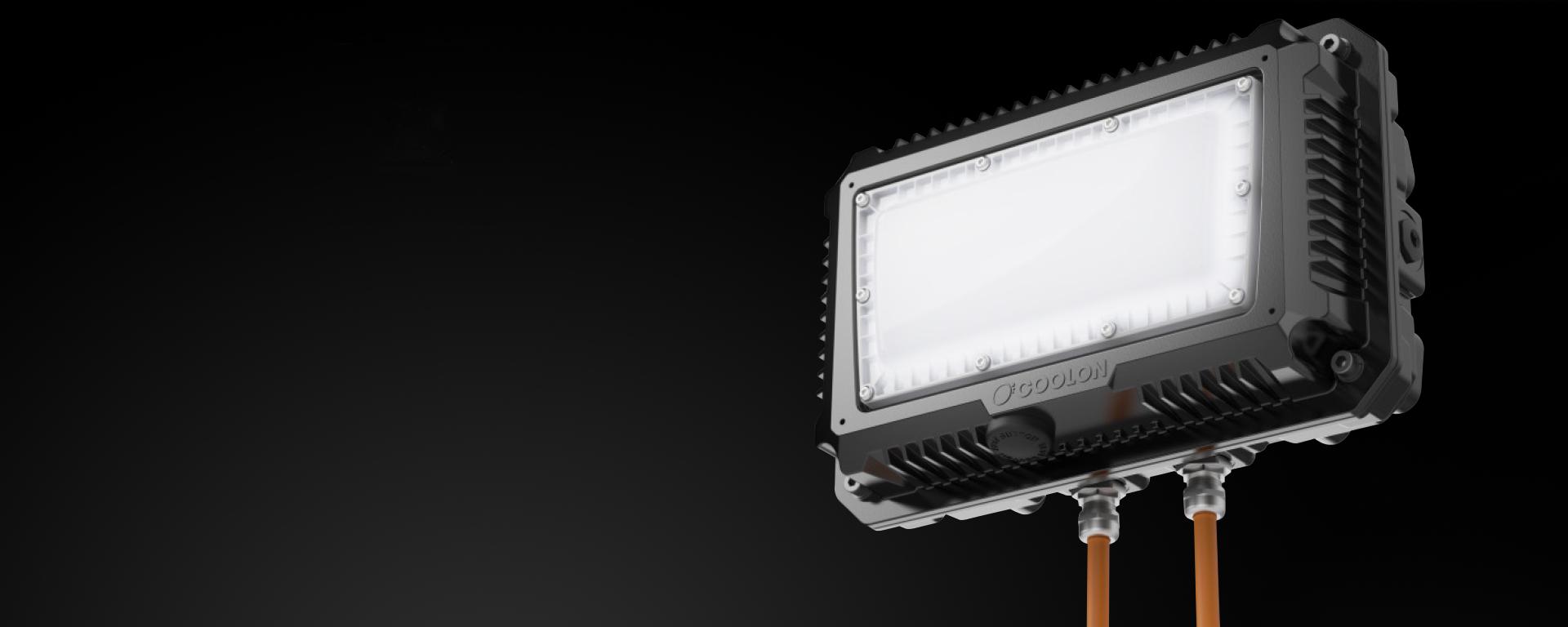 Emergency Bulkhead / Bulkhead LED mining light close up