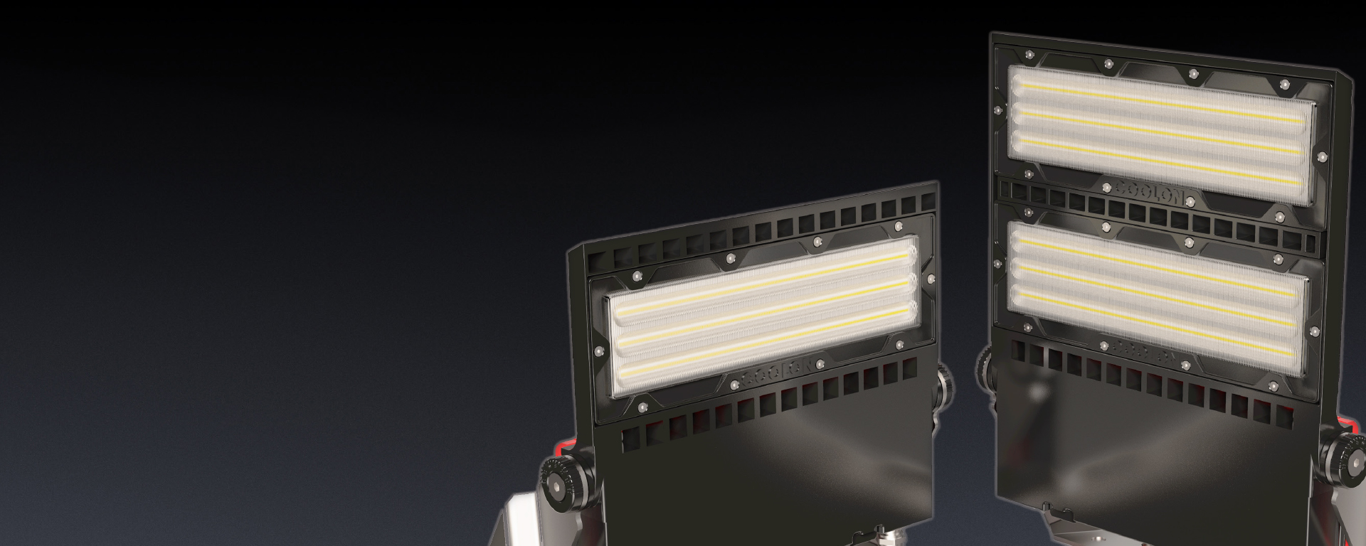 Butch LED mining Floodlight in application, installed on a mining/industrial site
