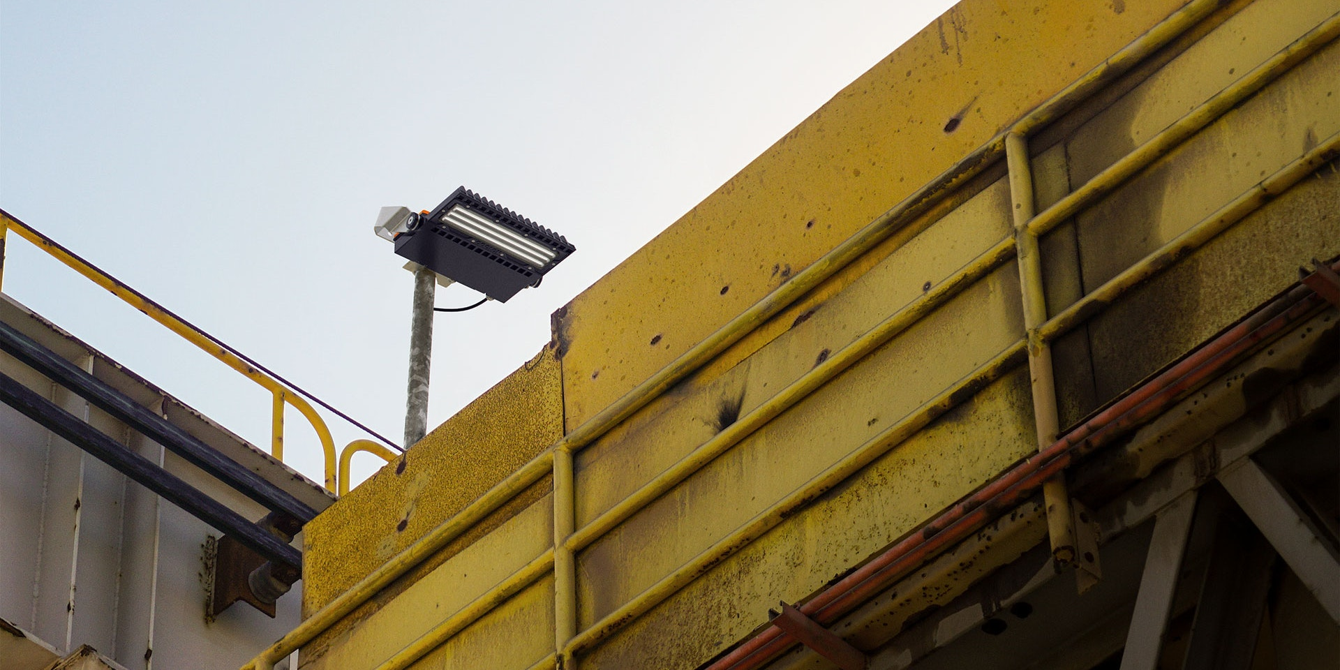 Butch LED Floodlight in application, installed on a mining/industrial site