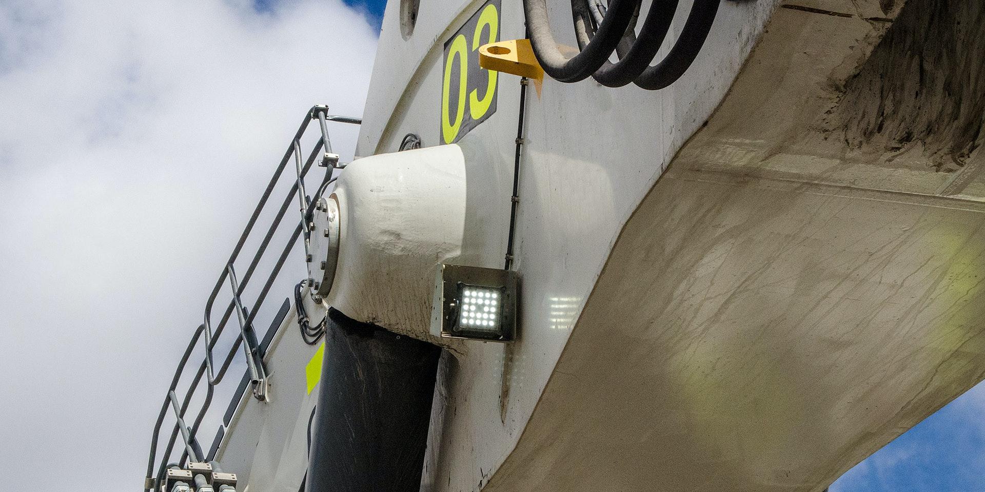 CP24 LED Flood Light in application, installed on 996 Liebherr excavator