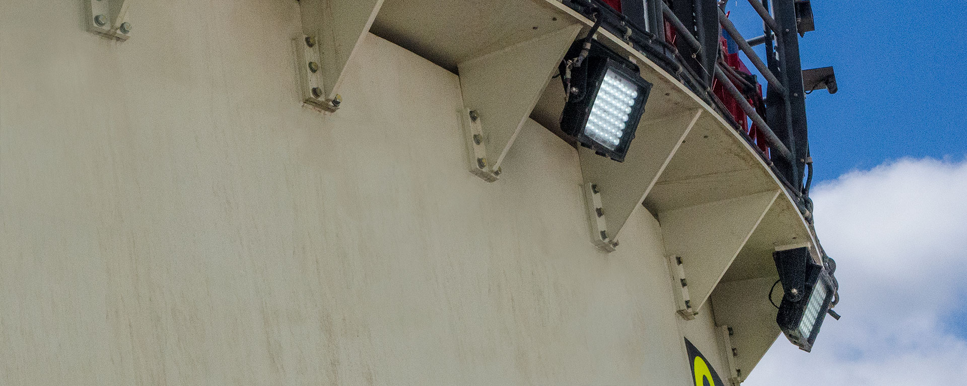 The CP56 LED mining floodlight in application, installed on a mobile plant
