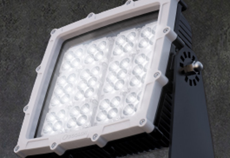 The high lumen output and narrow beam optics of the CP66 LED mining floodlight allows a single tower to illuminate extremely large areas. The power supply unit can be positioned separately for easy maintenance.