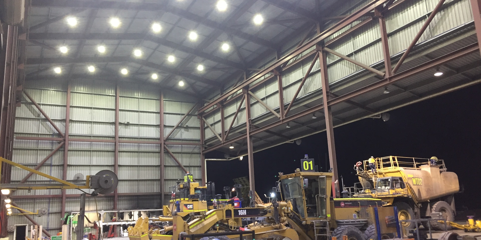 ExTNR LED Conveyor/Area light in application, installed in an industrial tunnel