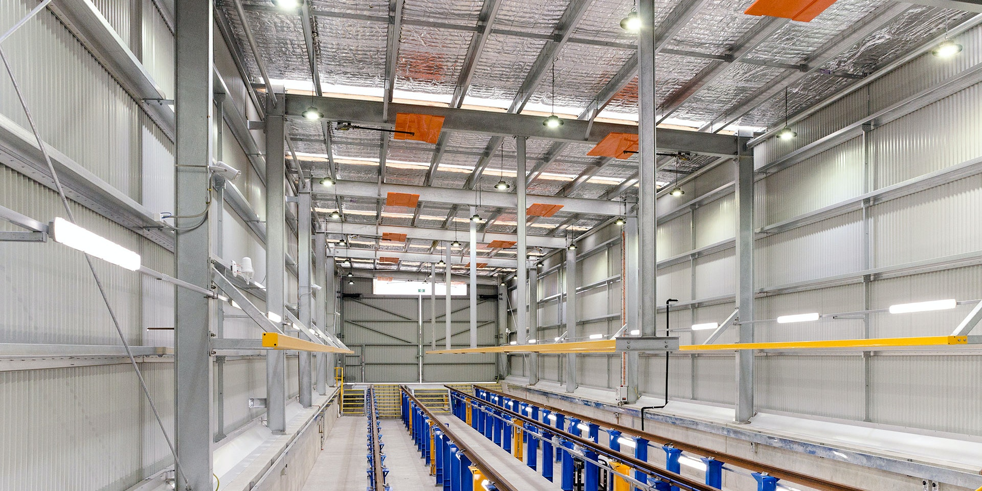IBYS LED High Bay in application, installed in a Yarra Tram maintenance facility
