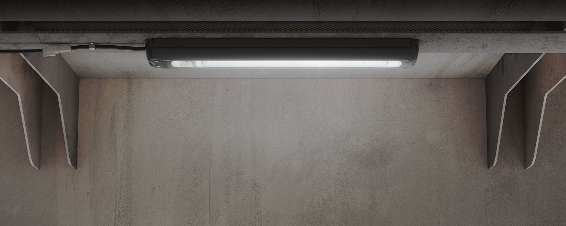 Measuring at only 86mm wide, 481mm long and 38mm deep, the Machine Light is perhaps the most compact and versatile luminaire for many challenging industrial lighting applications.